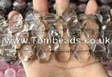 CNG7779 13*18mm - 15*25mm faceted freeform smoky quartz beads