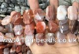 CNG7782 13*18mm - 15*25mm faceted freeform red Botswana agate beads