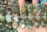 CNG7784 15.5 inches 13*18mm - 15*25mm faceted freeform rhyolite beads