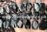 CNG7790 13*18mm - 15*25mm faceted freeform hypersthene beads