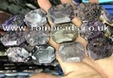 CNG7917 15.5 inches 22*30mm - 25*35mm faceted freeform charoite beads