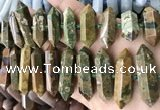 CNG7938 15.5 inches 10*22mm - 12*45mm faceted nuggets rhyolite beads