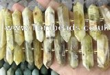 CNG7942 10*22mm - 12*45mm faceted nuggets yellow opal beads