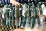 CNG7946 15.5 inches 10*22mm - 12*45mm faceted nuggets Indian agate beads