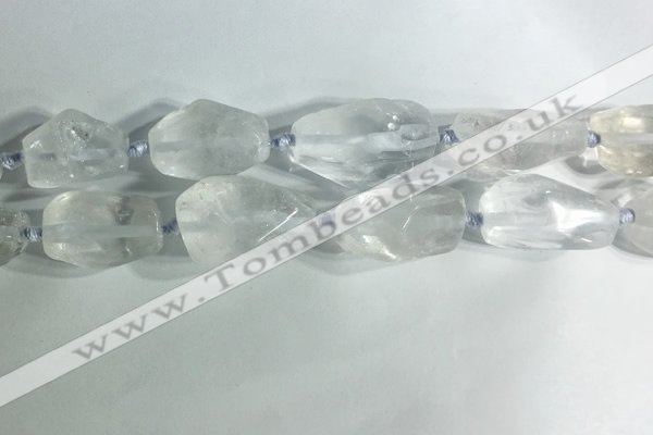 CNG7950 15.5 inches 15*25mm - 20*40mm nuggets white crystal beads
