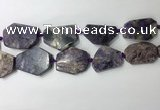 CNG7982 25*30mm - 35*45mm freeform charoite slab beads