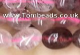 CNG8006 15.5 inches 6*8mm nuggets strawberry quartz beads