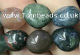 CNG8040 15.5 inches 8*10mm nuggets Indian agate beads wholesale