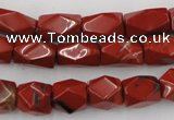 CNG809 15.5 inches 9*13mm faceted nuggets red jasper beads
