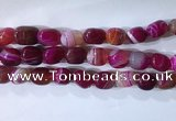CNG8187 15.5 inches 10*14mm nuggets striped agate beads wholesale