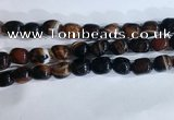 CNG8279 15.5 inches 13*18mm nuggets striped agate beads wholesale