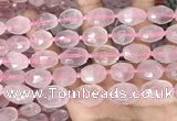 CNG8507 11*15mm - 13*18mm faceted nuggets rose quartz beads