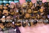 CNG8597 12*16mm - 13*18mm faceted nuggets yellow tiger eye beads