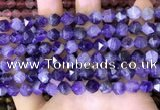 CNG8701 15.5 inches 8mm faceted nuggets amethyst gemstone beads