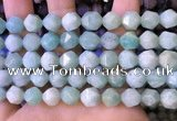 CNG8712 15.5 inches 10mm faceted nuggets amazonite gemstone beads