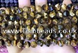 CNG8725 15.5 inches 8mm faceted nuggets yellow tiger eye beads