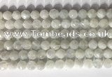 CNG9051 15.5 inches 8mm faceted nuggets white moonstone gemstone beads