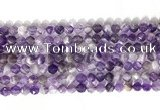 CNG9075 15.5 inches 6mm faceted nuggets dogtooth amethyst gemstone beads