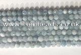 CNG9084 15.5 inches 6mm faceted nuggets aquamarine gemstone beads