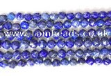 CNG9100 15.5 inches 8mm faceted nuggets lapis lazuli beads