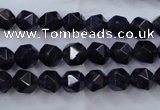 CNG926 15 inches 8mm faceted nuggets amethyst gemstone beads