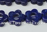 CNL1311 15.5 inches 18mm carved flower natural lapis lazuli beads