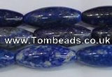 CNL1601 15.5 inches 12*30mm rice lapis lazuli gemstone beads