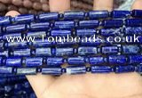 CNL1685 15.5 inches 4mm round & 6*12mm - 6*14mm tube lapis lazuli beads