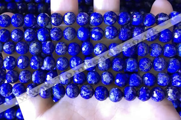 CNL1707 15.5 inches 8mm faceted round lapis lazuli beads