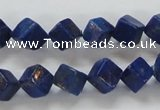 CNL239 15.5 inches 8*8 cube natural lapis lazuli beads wholesale