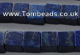 CNL645 15.5 inches 12*12mm cube natural lapis lazuli beads