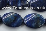 CNL704 15.5 inches 18*25mm twisted oval natural lapis lazuli beads