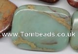 CNS115 15.5 inches 30*40mm rectangle natural serpentine jasper beads
