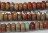 CNS130 15.5 inches 6*10mm rondelle natural serpentine jasper beads