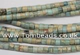 CNS135 15.5 inches 3.5*4mm heishi natural serpentine jasper beads