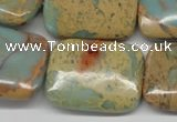 CNS151 15.5 inches 22*30mm rectangle natural serpentine jasper beads