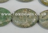 CNS244 15.5 inches 22*30mm oval natural serpentine jasper beads