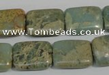 CNS256 15.5 inches 15*20mm rectangle natural serpentine jasper beads