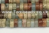CNS318 15.5 inches 2.5*4mm heishi serpentine jasper beads