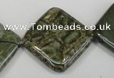 CNS533 15.5 inches 25*25mm diamond natural serpentine jasper beads