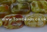 CNS672 15.5 inches 13*18mm rectangle green dragon serpentine jasper beads