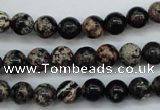 COB151 15.5 inches 8mm round snowflake obsidian beads