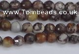 COJ360 15.5 inches 4mm faceted round outback jasper beads