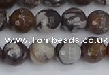 COJ363 15.5 inches 10mm faceted round outback jasper beads
