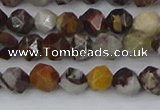 COJ371 15.5 inches 6mm faceted nuggets outback jasper beads