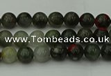 COJ450 15.5 inches 4mm round blood jasper beads wholesale