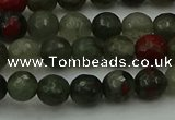 COJ461 15.5 inches 6mm faceted round blood jasper beads wholesale
