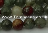 COJ463 15.5 inches 10mm faceted round blood jasper beads wholesale