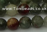 COJ464 15.5 inches 12mm faceted round blood jasper beads wholesale
