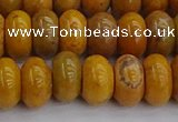 COJ613 15.5 inches 6*10mm rondelle orpiment jasper beads